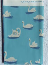 RARE OOP Heather Ross Spoonflower BLUE SWAN LAKE *VHTF Exclusive Designer Cotton