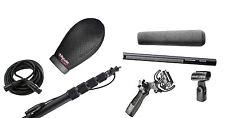 Sennheiser 416 w/ K-Tek KEG100CC Boompole, Rycote SuperSoftie, Pistol Grip,Cable