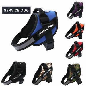 Dog Reflective Vest Service Adjustable Jacket Dog Harness Patches Dog Supplies