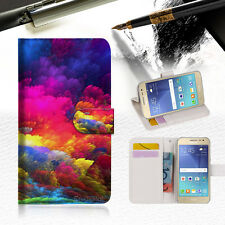 Colorful Cloud Wallet Case Cover For Samsung Galaxy J5 Prime- A021