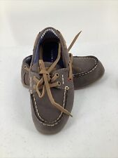 Boys Tommy Hilfiger Brown Loafers Boat Shoes Size 9
