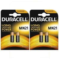 4 x Duracell MN21 Alkaline Batteries 12V A23 23A LRV08 K23A E23A LRV08 Battery