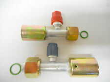 AC  A/C FITTINGS BEADLOCK,FEMALE STRAIGHT #8,#10 WITH R134a SERVICE PORTS