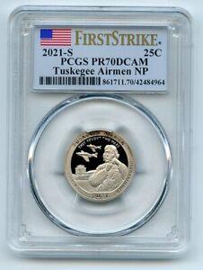 2021 S 25C Clad Tuskegee Airmen Quarter PCGS PR70DCAM First Strike