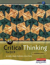AS Critical Thinking for OCR Unit 2 by Pearson Education Limited (Paperback)