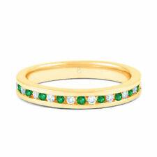 Natural Not Enhanced Emerald Eternity Fine Rings