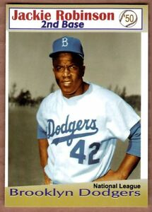 JACKIE ROBINSON '50 Brooklyn Dodgers / Miller Press / NM+ free ship