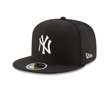 New Era 59Fifty MLB Basic New York Yankees Black/White Fitted Baseball Cap. 6.5