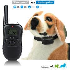 Collar de adiestramiento entrenamiento recargable para perros Vibracion descarga