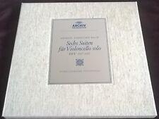 PIERRE FOURNIER / BACH CELLO SUITES 3LP BOX SET ARCHIV 2710 005 STEREO NM RARE