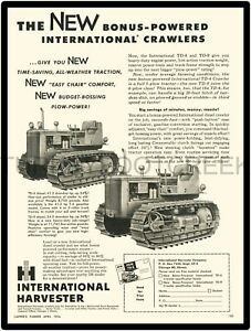 "1956 INTERNATIONAL TD6 AND TD9 CRAWLER AD 9"" x 12"" ALUMINUM Sign"