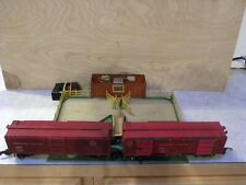 American Flyer Animated Stock Yard 771 & Two Operating 736 Stock Cars #3