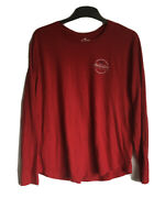 Hollister Mens Red Cotton Long Sleeve T Shirt L(C478)
