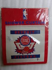 Vintage NEW DETROIT PISTONS Shower Curtain Vinyl NBA Official Licensed Product