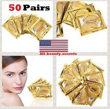 50 X Crystal 24k Gold Snail Collagen Eye Patch Mask Dark Circles Peter Thomas