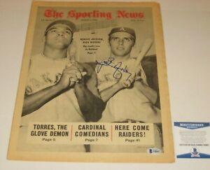 RICK MONDAY (Oakland A's) Signed SPORTING NEWS 8/17/68 w/ Beckett COA (NO Label)