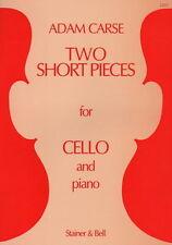 Partition pour violoncelle - Adam Carse - Two Short Pieces