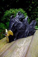La Quercia di palude Lampada da tavolo in legno forma unica RARA ELICA in ottone legno handmade ART