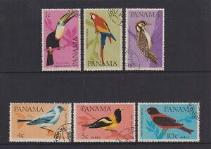 Panama - 1965, Oiseaux Ensemble - F/U - Sg 915/20