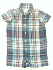Ralph Lauren Infant Baby Boy 3 Month Plaid Romper Red White Blue