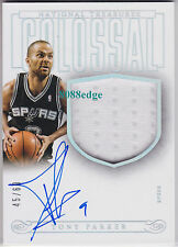 2013-14 NATIONAL TREASURES COLOSSAL AUTO: TONY PARKER #45/60 AUTOGRAPH SWATCH