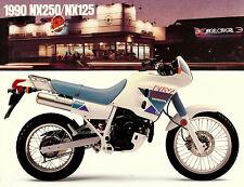 1991 HONDA NX250 & NX125 MOTORCYCLE BROCHURE -NX 250-HONDA-NX 125