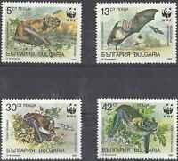 Timbres Animaux Chauve Souris Bulgarie 3231/4 ** lot 11815