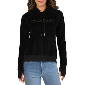 Bebe Sport Womens Velour Studded Athleisure Hoodie Jacket BHFO 6239