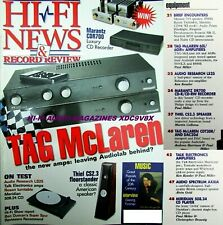 HI-FI NEWS MERIDIAN 508.24 RESON RS1 MARANTZ DR700 TALK HURRICANE TAG McLAREN