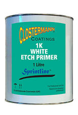 White Acid Etch Primer 1 Litre Rfu for use on Aluminium and other bare metals