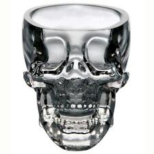 Home Bar Crystal Beer Glass Ware Vodka Whiskey Skull Head Shot Drinking Cup GN