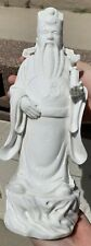 Estate Old House Chinese Antique White Porcelain Buddha Statue Figure With Mark