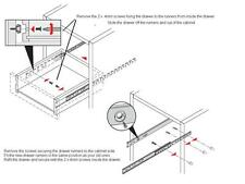 4 Pairs Ball Bearing Drawer runner Pr 430mm draw depth for 17mm - 10108