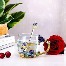TILANY Enamel Tea Cup Coffee Mug Set With Spoon & Coaster
