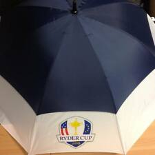 Official 2018 Ryder Cup Double Canopy Navy/White Golf Umbrella-Free Scarf