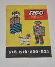 Lego 518 519 520 521 Bauanleitung, only Instructions Manuel, 50-er Jahre,rar,TOP