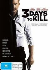 3 Days to Kill (DVD, 2014) - Ex Library - **DISC ONLY**