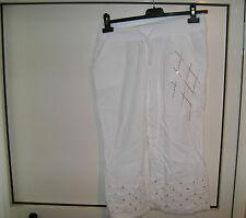 pantaloni corti bianchi tg. 46/48 usati poco come nuovi