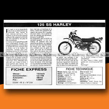 ★ HARLEY-DAVIDSON SX 125 ★ 1976 Essai Moto / Original Road Test #c70