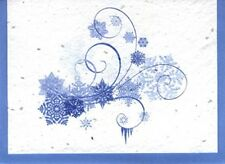 Eco Friendly Grow-A-Note® Recycled Paper Shooting Snowflake Blank Note Cards