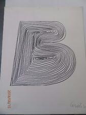 Mario Ceroli la lettera `B `