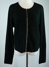 Banana Republic Size XL Zip Front Cardigan Sweater Black