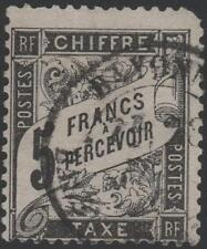 "FRANCE STAMP TIMBRE TAXE N° 24 "" TYPE DUVAL 5F NOIR "" OBLITERE A VOIR  K041"