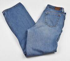 EDDIE BAUER Blue Denim Wide Leg 100% Cotton Jeans Size 8 Classic Vintage Inspire
