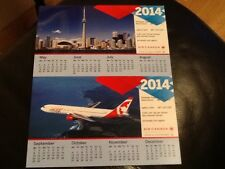 AIR CANADA CALENDAR DESK OFFICE 2014 RARE AC STAR ALLIANCE COLLECTIBLES