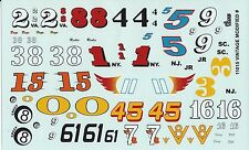 GOFER RACING VINTAGE MODIFIED DECAL SET FOR 1:24 AND 1:25 SCALE MODEL CARS