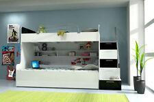 Cadres de lit et lits coffres enfant en bois massif pour la maison