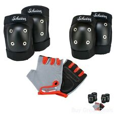 Child's Protective Pad Set w/ Knee Elbow & Gloves Schwinn Bicycle Skateboard NEW