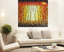 "Aboriginal coa Art Oil Painting   80cm x 80cm  ""bush fire""  landscape"