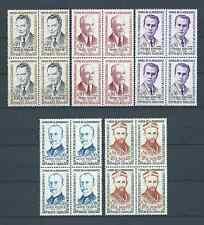 FRANCE - 1960 YT 1248 à 1252 blocs de 4 - TIMBRES NEUFS** LUXE